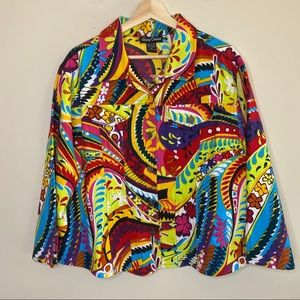 Candy Couture bright abstract jacket